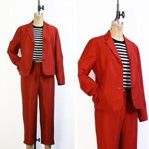 1990s Ralph Lauren silk suit
